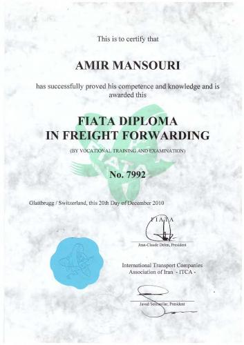 FIATA DIPLOMA IN FREIGHT FORWARDING