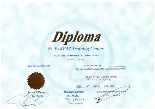 PARVAZ TRAINING CENTER DIPLOMA 06TH